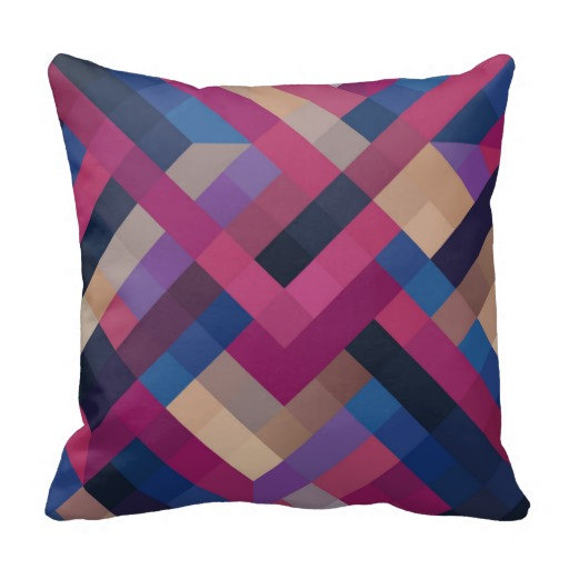 Blue Geometric Throw Pillows : Champagne,dark Purple,blue Gradient Geometric Pillows,geometric Cushion,plaid Pillow,plaid ...