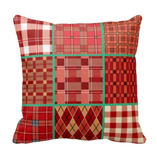 Red Plaid Throw Pillow Cover : Plaid Pillow,plaid Pillow Cover,red Plaid Pillow,buffalo Plaid Pillow,red Mint Pillow,pillow ...
