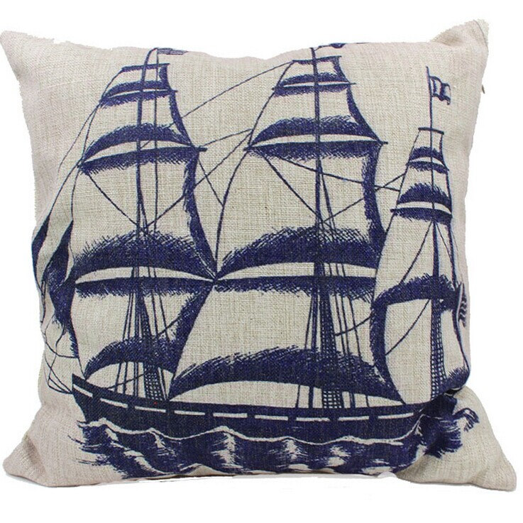 Throw Pillow Covers Nautical : Sailing Burlap Pillow, Nautical Pillows, Lumbar Pillow Cover, Cushion Cover, Throw Pillow Covers ...