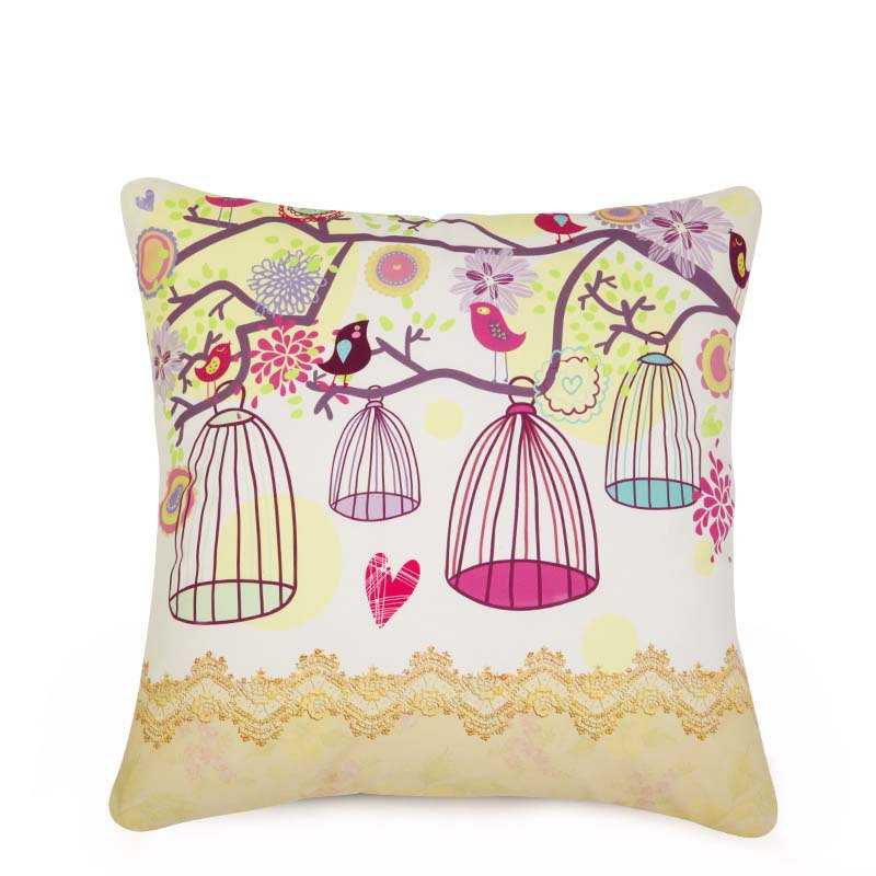 Flowers Rural Countryside Canvas Sofa Cushions Decorative