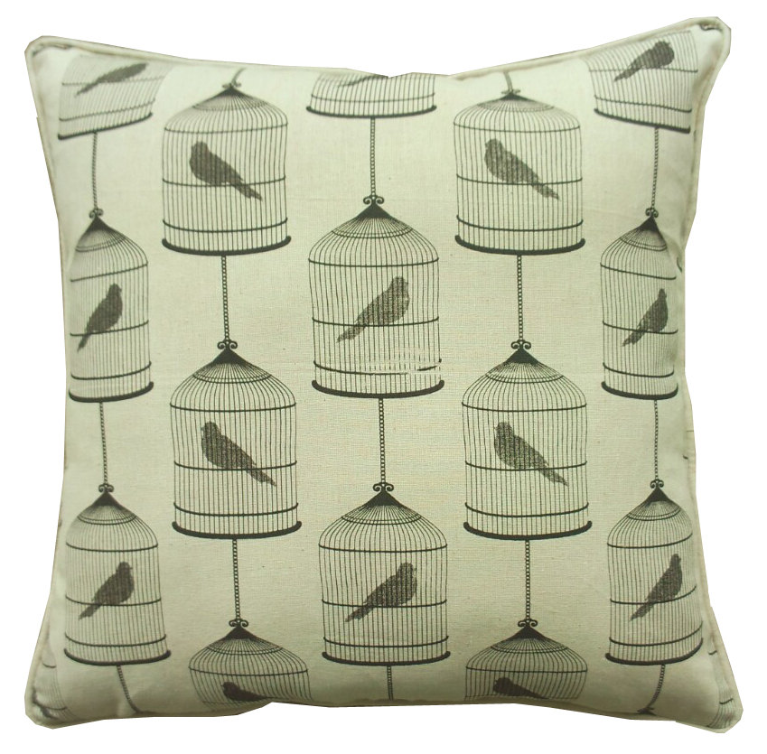 Bird Print Pillow Cushions, Throw Pillow Covers 18x18, Lumbar Pillow Cover, Floral Throw Pillows ...